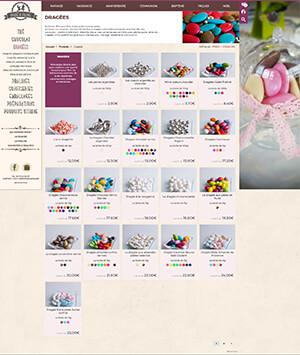Site web ecommerce La Dragée de Valence en 2018