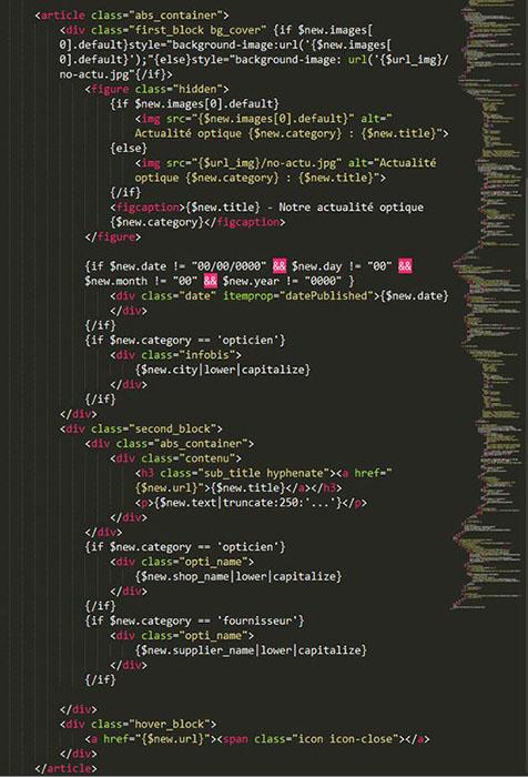 Développement et intégration de la page actualités - MonOpticien.com