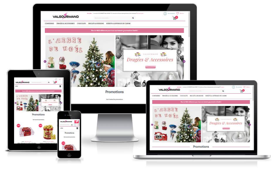 Etudes de Cas : Site e-commerce B2C Prestashop  valgourmand à Valence dans la Drôme